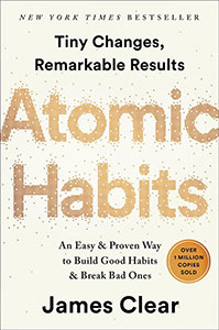 Front cover of the book Atomic Habits by James Clear.
