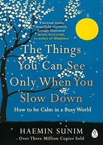 Front cover of The Things You Can See Only When You Slow Down by Haemin Sunim.