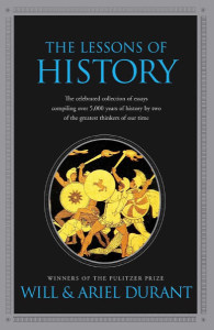 Front cover of The Lessons of History by Will & Ariel Durant.