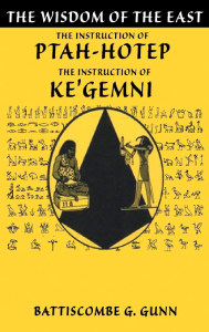 Front cover of The Instructions of Ptah-Hotep.