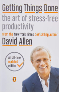 Front cover of Getting Things Done by David Allen.