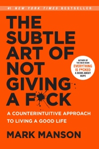 Front cover of The Sublte Art of Not Giving A F*ck by Mark Manson.