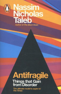 Front cover of Antifragile by Nassim Nicholas Taleb.