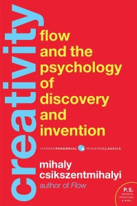 Front cover of Creativity by Mihaly Csikszentmihalyi.