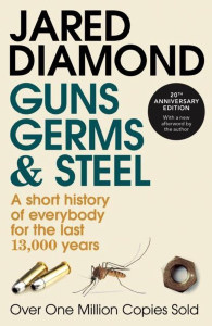 Front cover of Guns, Germs & Steel by Jared Diamond.
